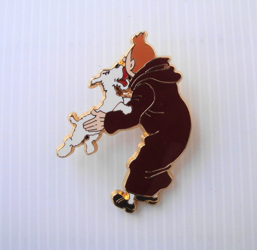 Riesen - pin ist luxe tintin l é ch é par nacheifern herg é Größen 5.7 4cm grande qualit é