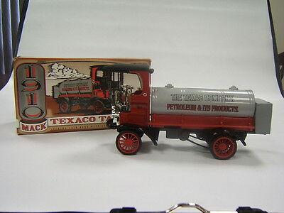 Ertl Texaco 1910 Mack Tanker die cast metal replica coin bank in box #12 ltd ed