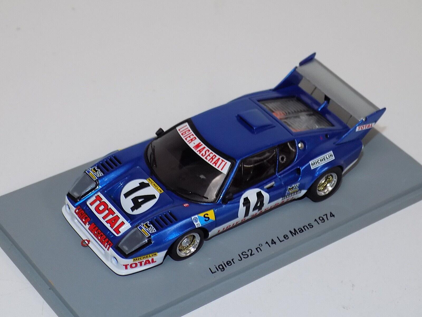1/43 Spark Ligier JS2 coche 14 2018 24 horas de LeMans S0548