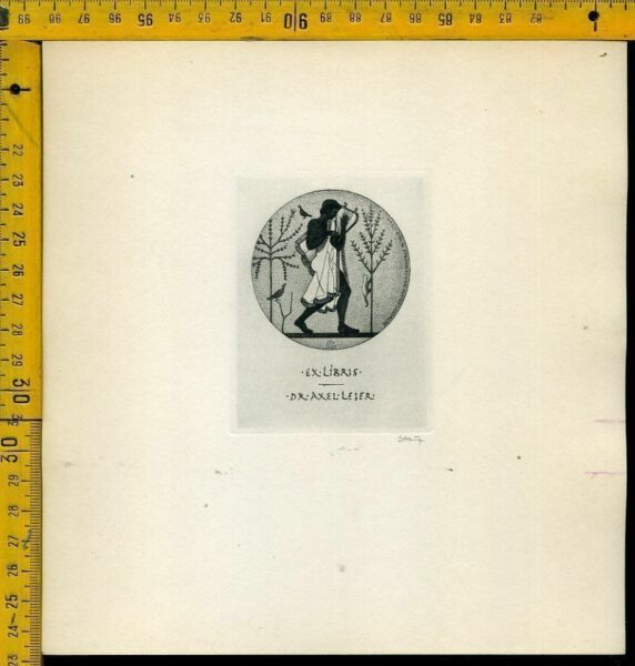 100% De Calidad Ex Libris Congresso Como 1968 B 1289 Dr. Axel Leier Sé Astuto En Asuntos De Dinero