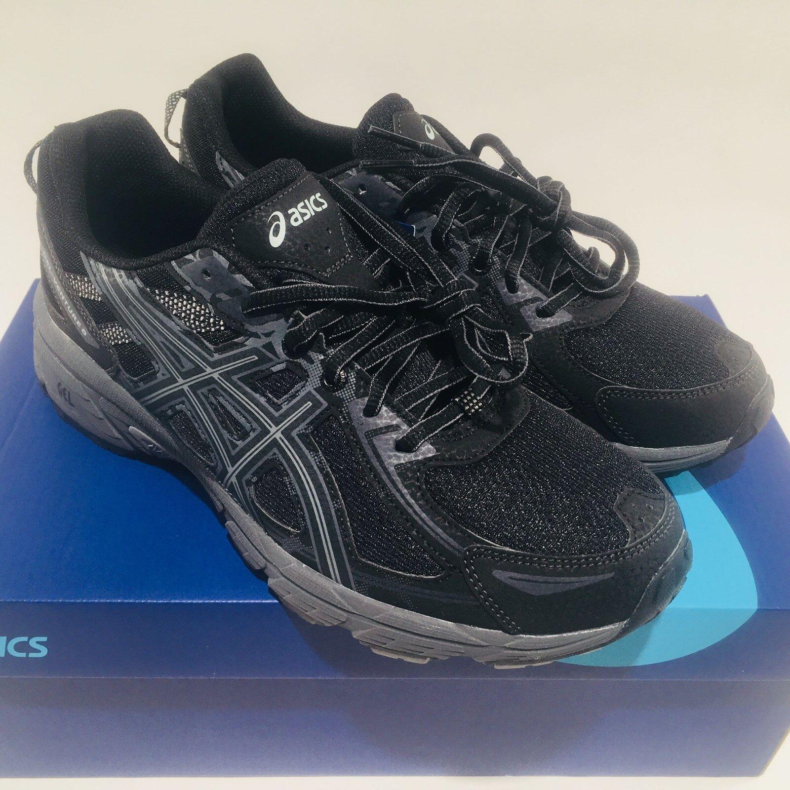Asics Gel Venture 6 Homme 9.5 Noir Trail Running Chaussures NIB T7G1N PM