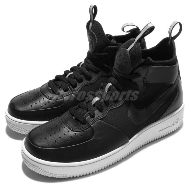 58b5d51370cf Nike Air Force 1 Ultraforce Mid Black White Men AF1 Shoes Sneakers  864014-001