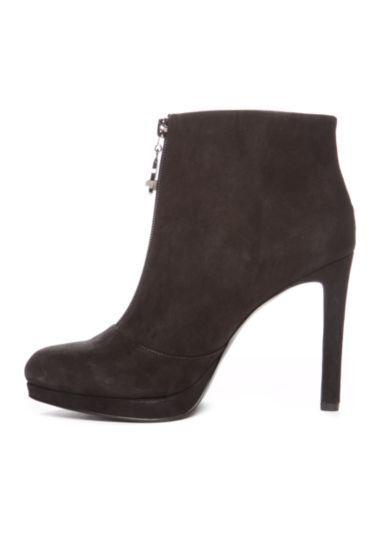 NINE WEST WEST WEST QUALIFIDE schwarz SUEDE StiefelIE ANKLE Stiefel ZIP ALMOND TOE STILETTO HEEL 0af794