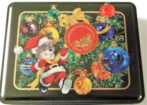 Swiss-Colony-Rectangular-Tin-Christmas-Santa-Mouse-Ornaments-Tree-Empty