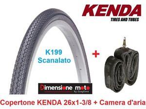 1-Copertone-034-KENDA-034-26x1-3-8-K199-Nero-1-Camera-per-Bici-26-034-Retro-Old-Style