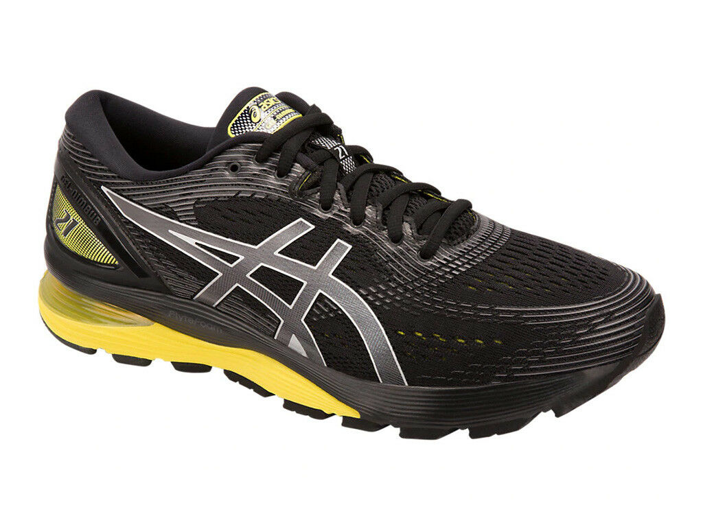 [asics] GEL-NIMBUS 21 (2E) nero   Lemon Spark Men's Running scarpe 1011A172.003