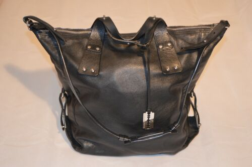 Loveless Mcqueen Handbag Leather Black Shopper Strap Alexander Stud Holdall Mcq PukZiX