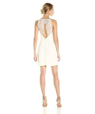 New Kensie French Vanilla Women/'s Size Small Cutout Lace Contrast Dress