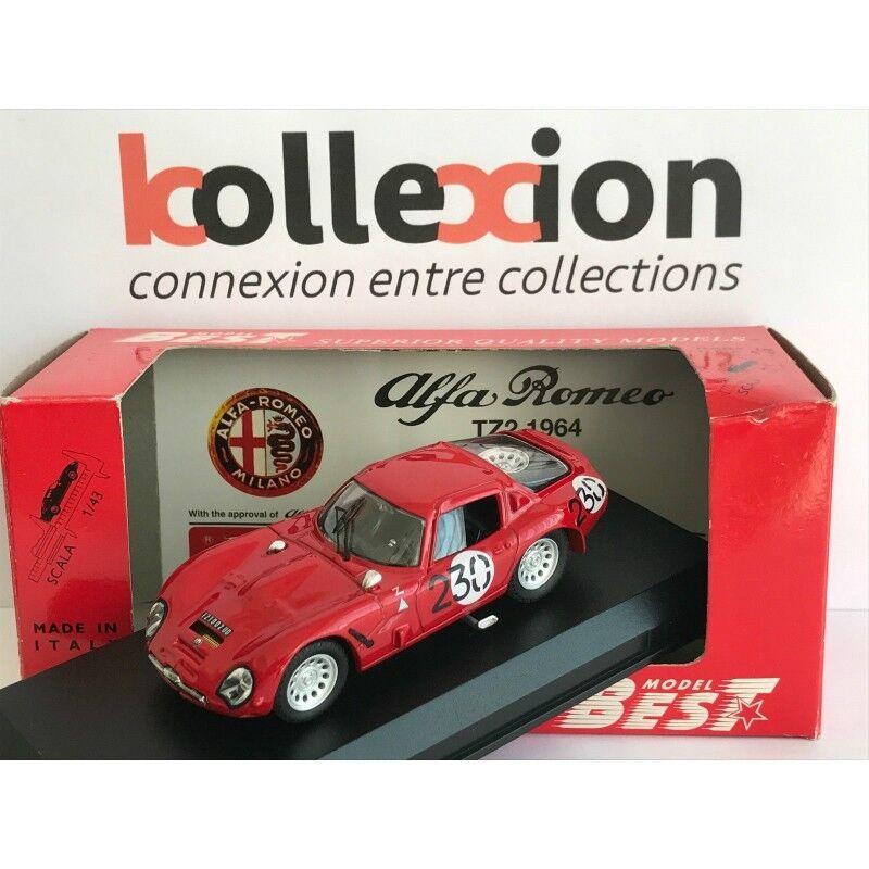 BEST MODEL 9089 ALFA ROMEO TZ2 N.230 Bolzano - Mendola 1966 SANGRI-LA 1.43 NB