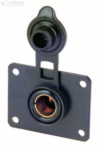 Einbau-Normsteckdose PHILIPPI 12 // 24 V mit Montageplatt