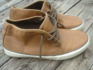 764b0cd0989 Details about mens American Eagle tan brown leather mid top shoes USA mens  size 11 M sneakers