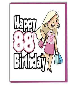 Image Is Loading Glamour Girl 88th Birthday Card Ladies Daughter Grandaughter