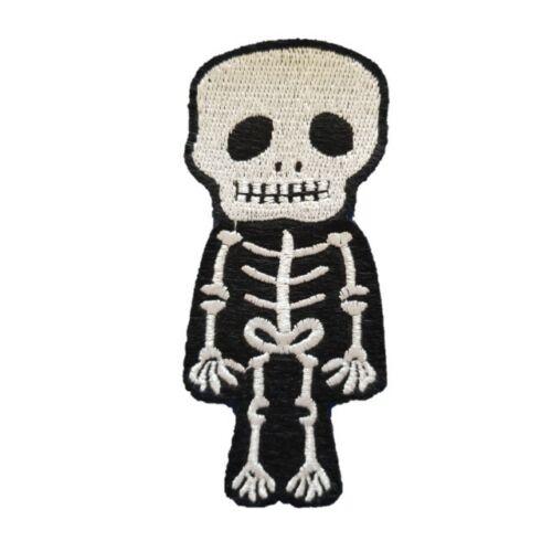 Skeleton Iron On Patch Sew on Transfer Full body Skeleton bones Skull Patch