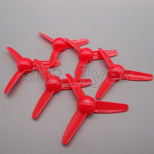 10pcs trois pales rouge 80*2mm Hélice de ventilateur d/'air avion modèle Hélicoptères HM
