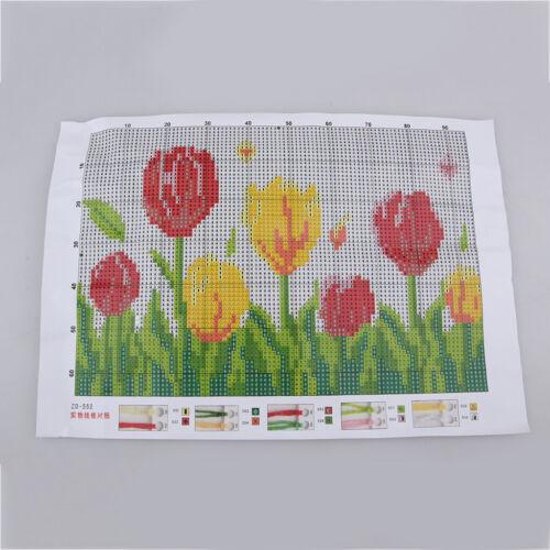Latch Hook Rug Kits Crochet Fleur Coussin Tapis pour enfants amis famille