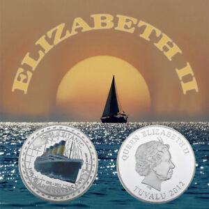 WR-Titanic-100th-Anniversary-Memorabilia-SILVER-Collectors-Coin-TUVALU-1912-2012