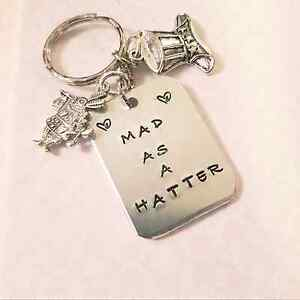 Mad Hatter Key ring  bag charm Alice inspired - <span itemprop='availableAtOrFrom'>BEXHILL ON SEA, East Sussex, United Kingdom</span> - Mad Hatter Key ring  bag charm Alice inspired - <span itemprop='availableAtOrFrom'>BEXHILL ON SEA, East Sussex, United Kingdom</span>