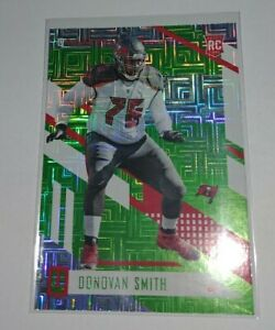 2017 Unparalleled Lime Green Donovan Smith RC Buccaneers Escher Squares rookie