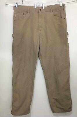 NWT Carhartt Men/'s Loose Fit Canvas Carpenter Jean 36 x 36 Pants Golden Khaki