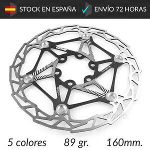 Disco-de-Freno-Flotante-160mm-Ligero-89gr-Bicicleta-MTB-BTT-Bici-Aluminio-Acero