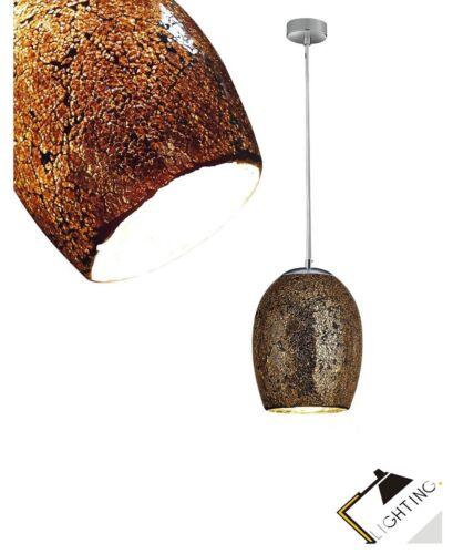 Design DEL Lampe de mosaikglas ø18cm pendule Lampe métal chrome lustre NEUF