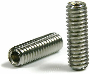 Socket Set Grub Screw Cup Point 18-8 Stainless Steel Screws #1-72 Qty 25