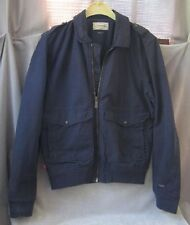 RARE LEVI'S FLIGHT BOMBER JACKET Military w RED TAB EUROPEAN Blue Canvas Mens M