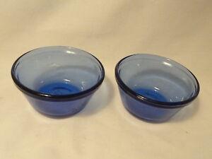Cobalt-Blue-Glass-Custard-Cups-Pair-6-oz-USA