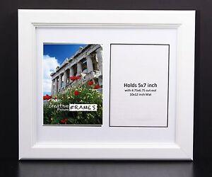 Creativepf 2 Opening Multi 5x7 White Picture Frame W 10x12 White