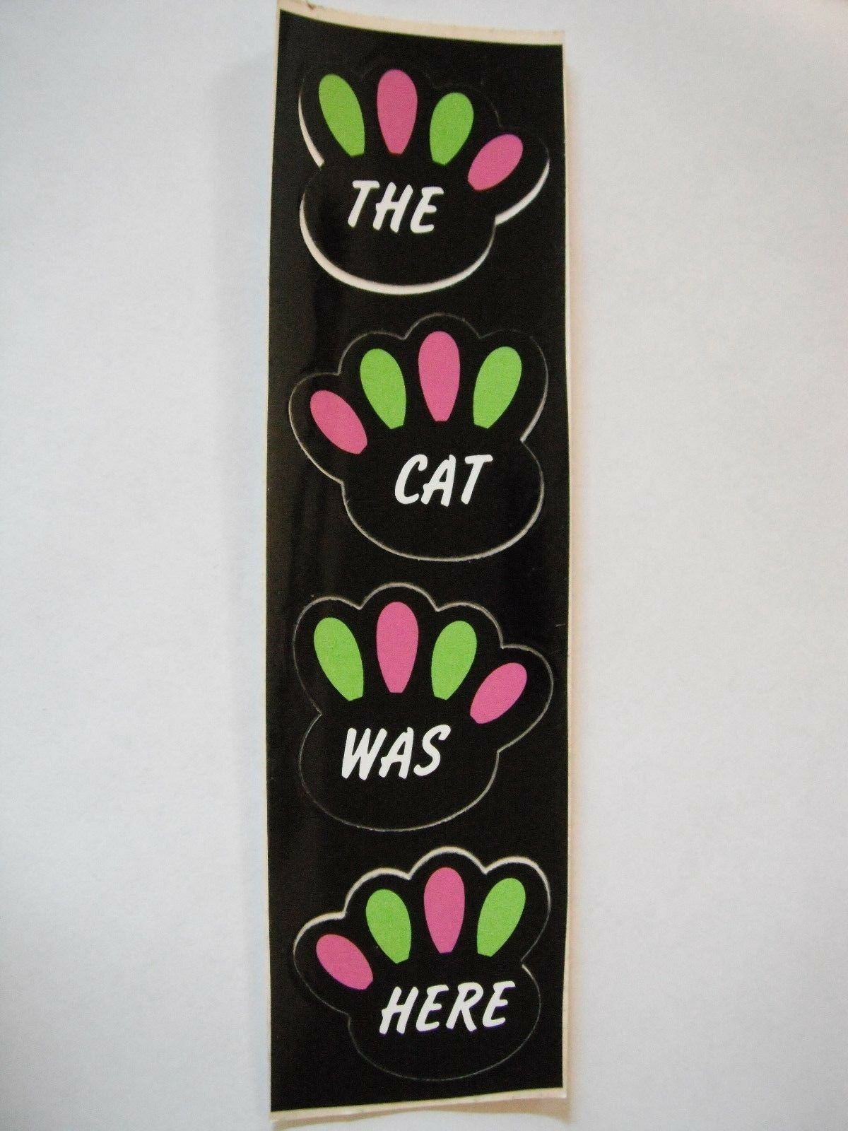 Vintage NOS Arctic Cat  The Cat Was Here  Paw Print Decals