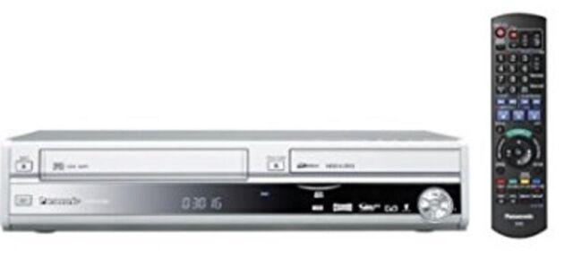 Panasonic DMR-EX98V Noir DVD & VHS Enregistreur avec 250gb HDD - Tnt - Argent