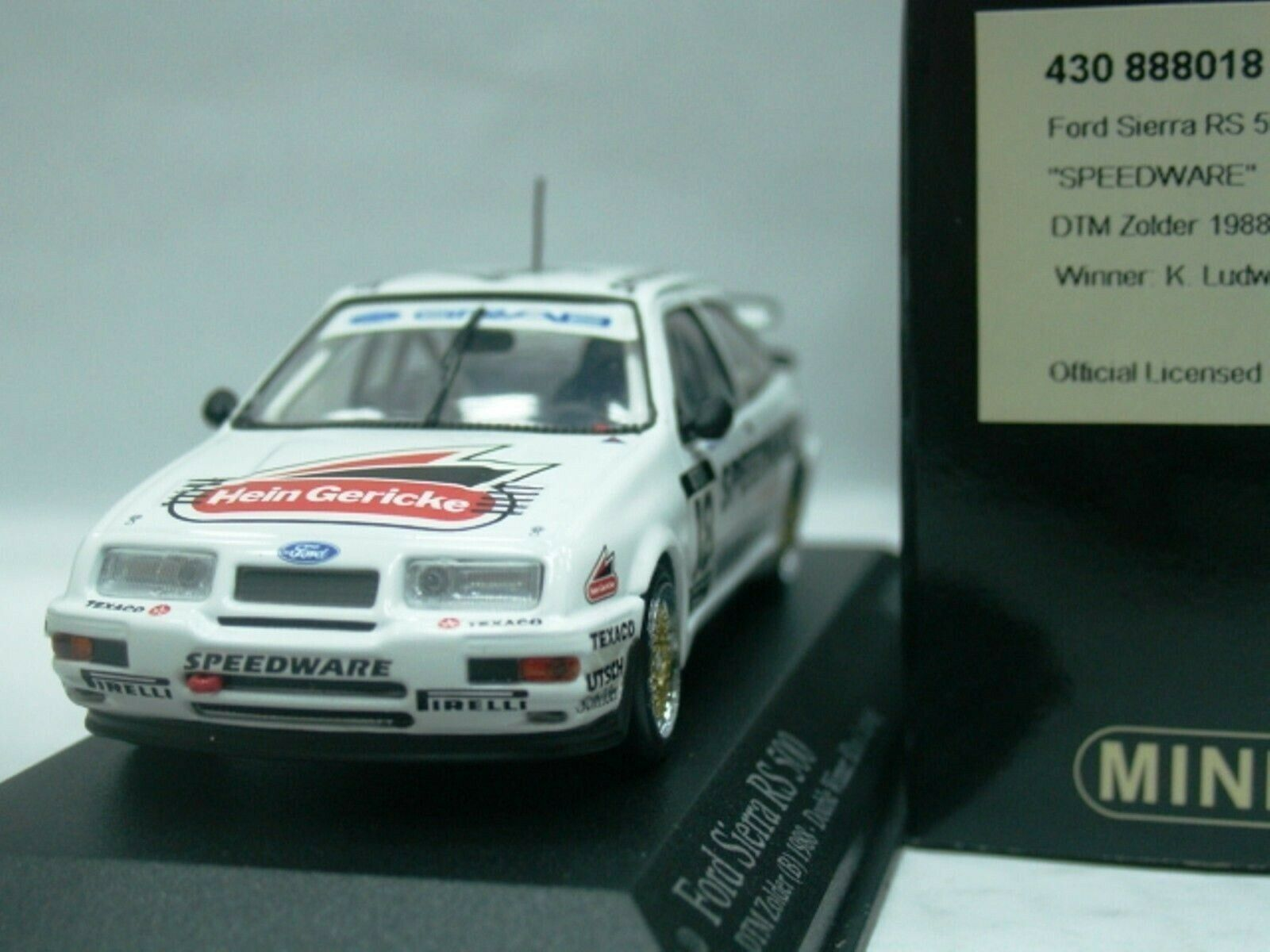 WOW EXTREMELY RARE Ford Sierra 1988 RS500 Ludwig Champion DTM 1 43 Minichamps