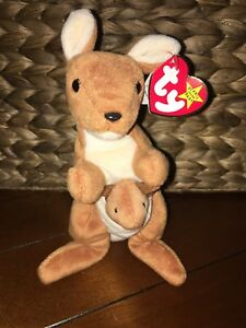 TY-VERY-RARE-Pouch-Beanie-Baby-With-BONGO-Tush-Tag-amp-BONGO-without-Hang-Tag