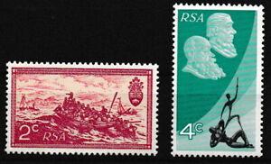 Sudafrica - 10 anni Repubblica frase posta fresco 1971 MER. 405-406