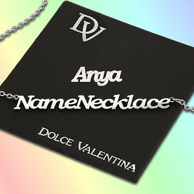 Personalised Any Name Necklace Chain Arthur Nameplate Pendant Stainless Steel