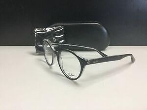 94366cfa33 Ray Ban Rb 5361 2034 49-20 145 Black Clear Eyeglasses Round NEW