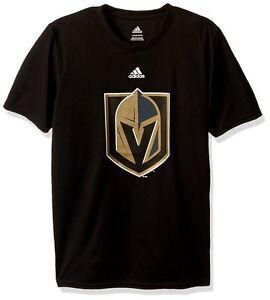 las vegas golden knights nhl adidas solid black team logo