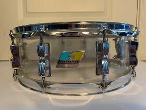 1970-039-s-LUDWIG-14-034-Clear-Vistalite-Snare-Drum-10-Lug