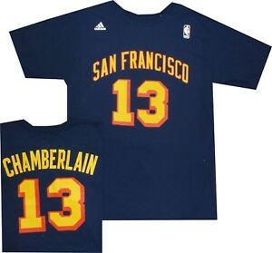 7a19d1c2d Image is loading San-Francisco-Warriors-Wilt-Chamberlain -Adidas-Throwback-Navy-