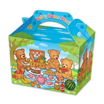 6 Farm Yard Animals Boxes ~ Picnic Carry Meal Food Loot Birthday Party Bag Box