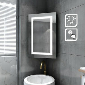 Single Door Wall Corner Mirror Cabinet Stainless Steel