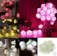 20LED Rose Flower Fairy String Lights Wedding Garden Party Christmas Decor hs