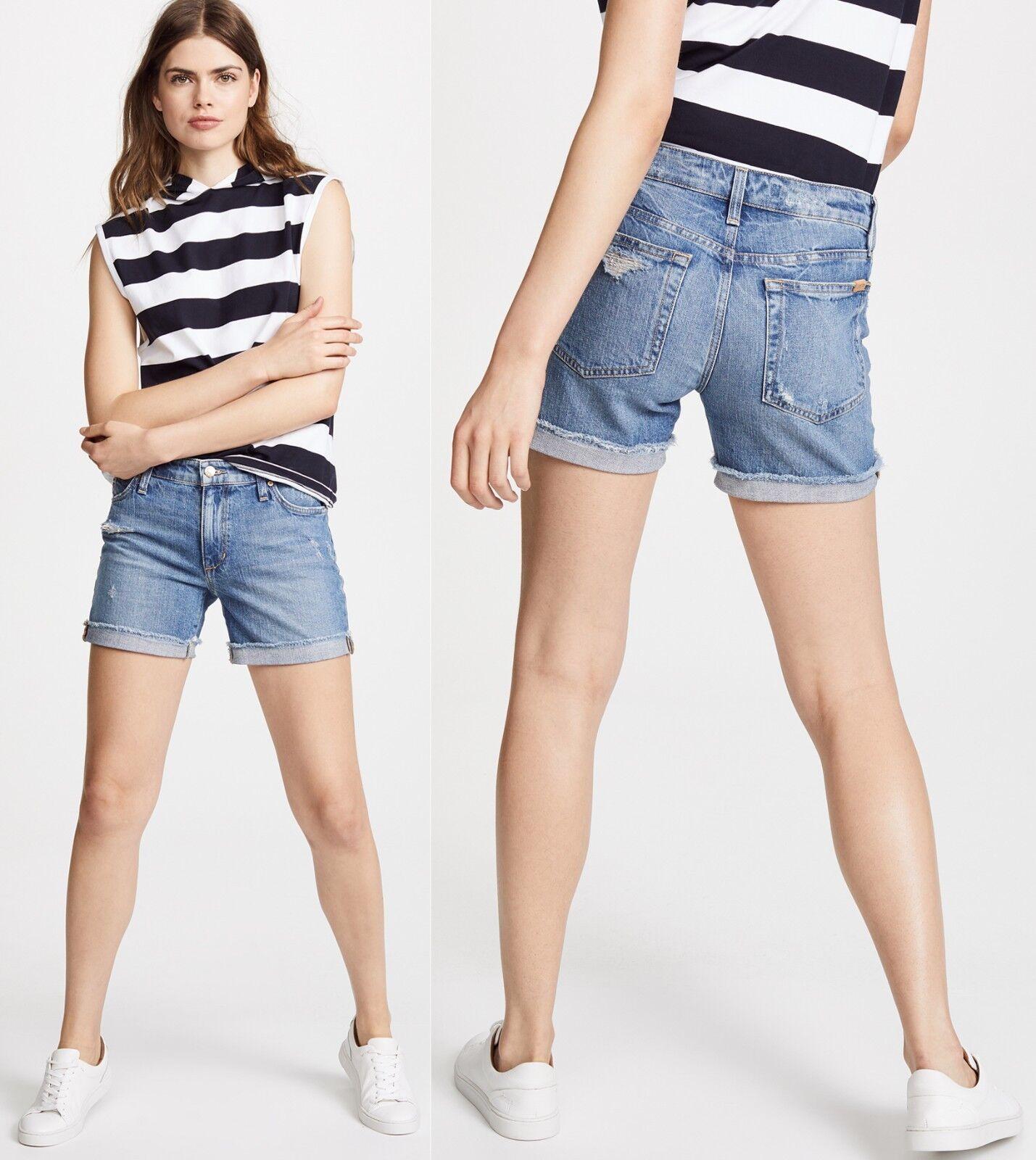 158 Joe's Jeans Lannah Wash Short cuffed Bermuda Denim Shorts