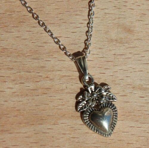 Moneda Ancla Corazón Rosa Plata Encanto Colgante Collar Boho Joyería Antiguo