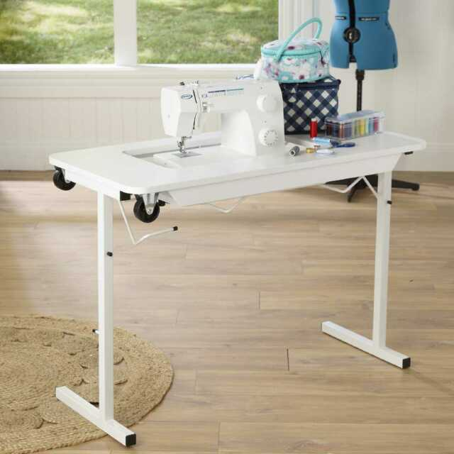 Semco Compact Sewing Machine Table By Spotlight EBay Enchanting Small Sewing Machine Table