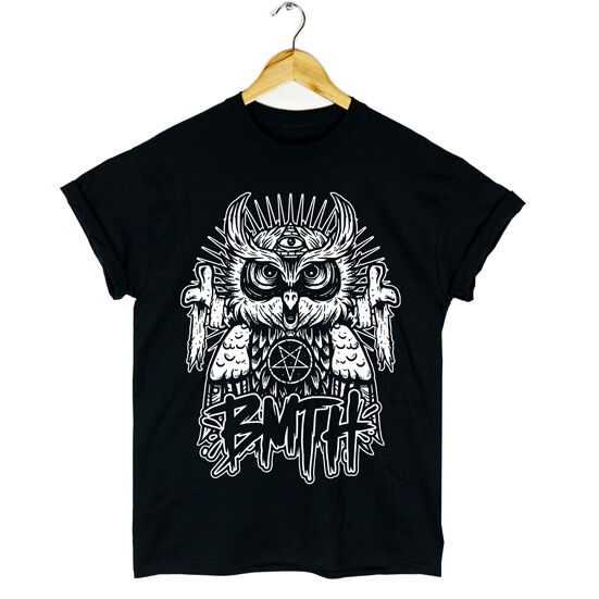 BMTH OWL TSHIRT BAND MUSIC ROCK OLIVER SYKES WOMENS MENS NEW