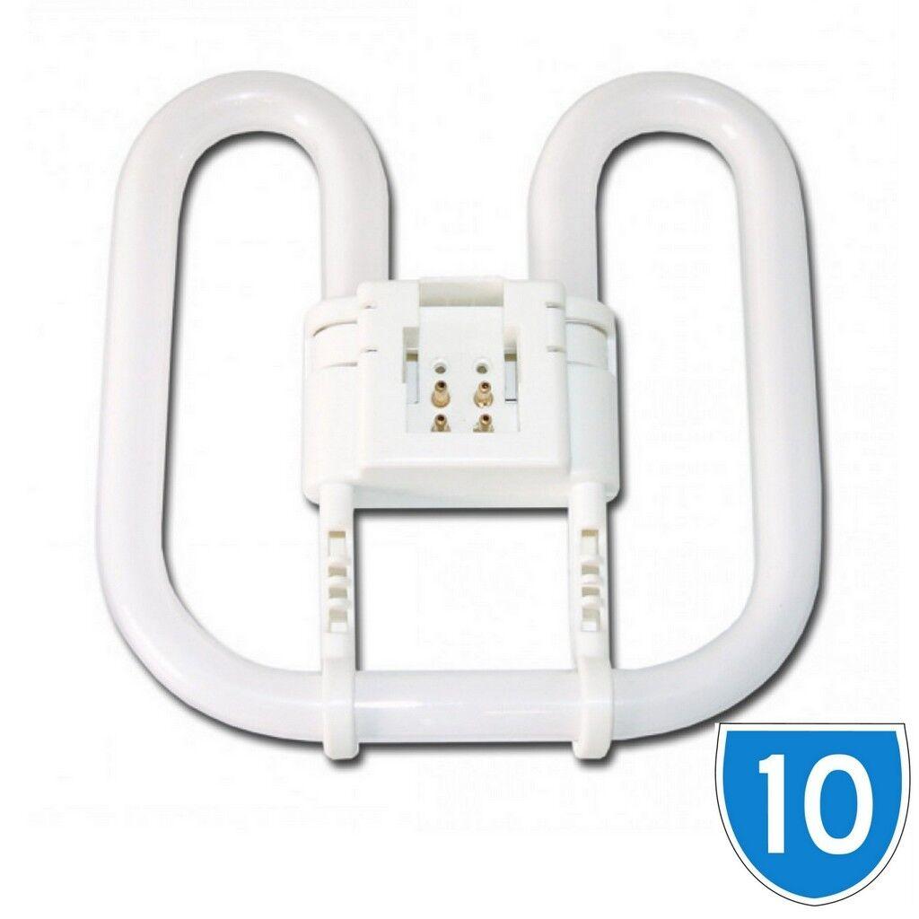 Valore 10 Pacco ENERGY Saver Lampada Farfalla 2D 4 4 4 pin Lampadina 3500K 16W 16 WATT 4P 84c930
