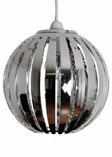 23cm (H) Phoenix Chrome Acrylic Round Ball Modern Lamp Light Pendant