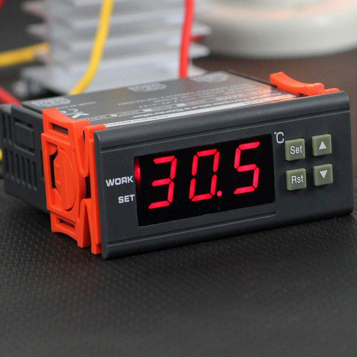 10A//220V Digitaler Temperaturregler Grad Sonde Digital-Thermostat Instrument