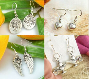 HOT-Wholesale-4-Pair-Lots-Charm-Fashion-Jewellery-Silver-Mix-Stud-Earrings